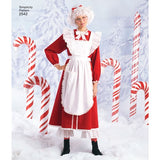 Simplicity 2542 Womens Mens UNISEX Christmas Costumes Santa Mrs Claus Elves Sewing Pattern Sizes L, XL UNCUT Factory Folded
