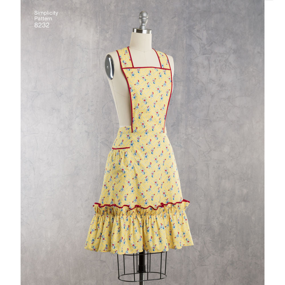 Simplicity 8232 Womens 1940s Repro Full Apron Sewing Pattern Sizes ...