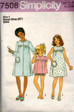 Simplicity 7508 70s girls sleepwear