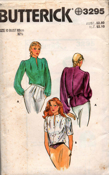 butterick 3295 80s blouses