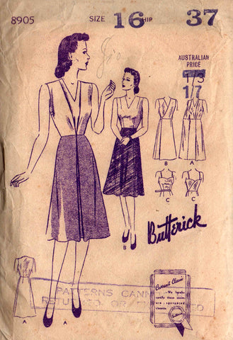 butterick 8905 30s skirts with underbody