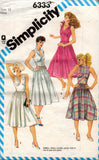 simplicity 6333 80s bombshell dress