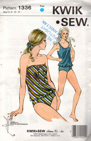 Kwik Sew 1336 80s swimsuit