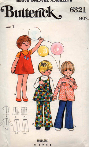 butterick 6321 toddlers separates 70s