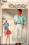 simplicity 7357 mens shorts pants shirt t shirt