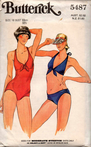 butterick 5487 swimsuits