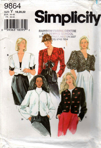 simplicity 9864 90s jackets