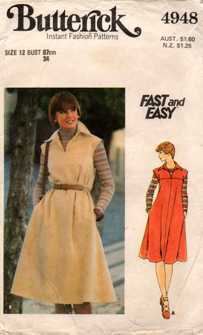 butterick 4948 70s jumper