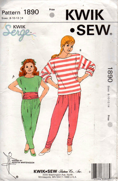 kwik sew 1890 girls tops pants