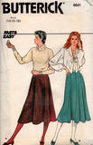 butterick 4641 80s skirts