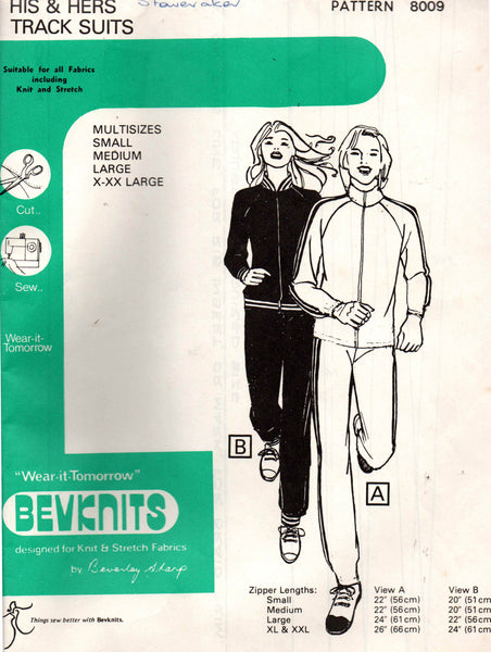 Bevknits 8009 unisex tracksuits
