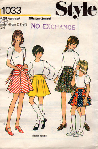 style 1033 girls 70s skirts