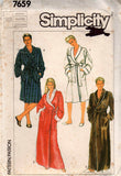 Simplicity 7659 unisex robes