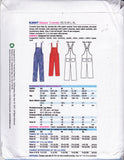 Kwik Sew 3897 Womens Overalls Dungarees Pattern Size XS - S - M - L - XL UNCUT Factory Folded