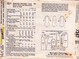 McCall's 7247 Vintage 60s Tent Dress Jumper Coat Pattern Size 14 Bust 34 inches
