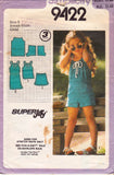 Simplicity 9422 Girls Stretch Dress Top & Shorts 1980s Vintage Sewing Pattern Size 5 or 6