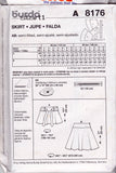 Burda 8176 Womens Flared Skirts OOP Sewing Pattern Sizes 8 - 20 UNCUT Factory Folded