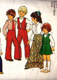 Style 2129 Vintage sewing pattern Toddler Boys Girls Mini Maxi Skirt Vest Shirt & Pants Size 2