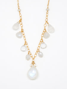 Clear Quartz Sparkle and Shine Necklace - 6941
