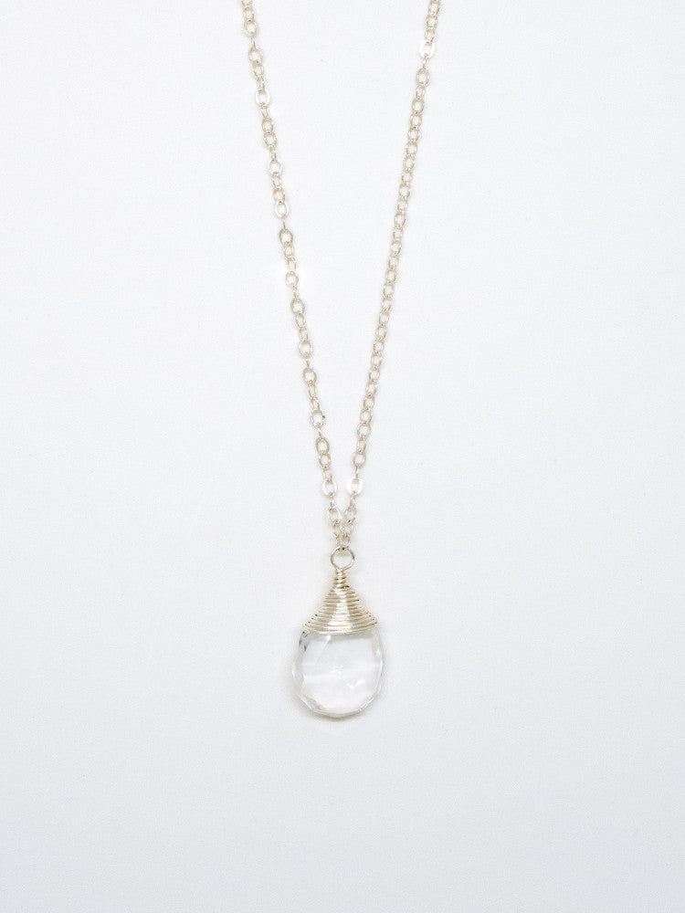 Quartz Drop Necklace - 6984