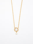 Baby Pearl Circle Necklace - 7001