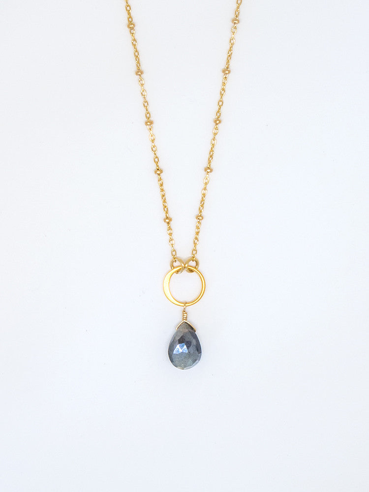 Mystic Labradorite Drop Necklace - 7029