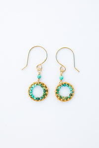 Turquoise circle drop small- E5029