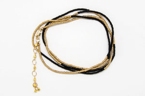 Black and Gold Bracelet - B880