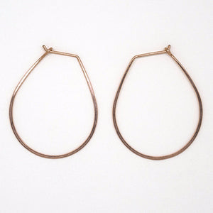 Rose Gold Teardrop Earrings - E1686