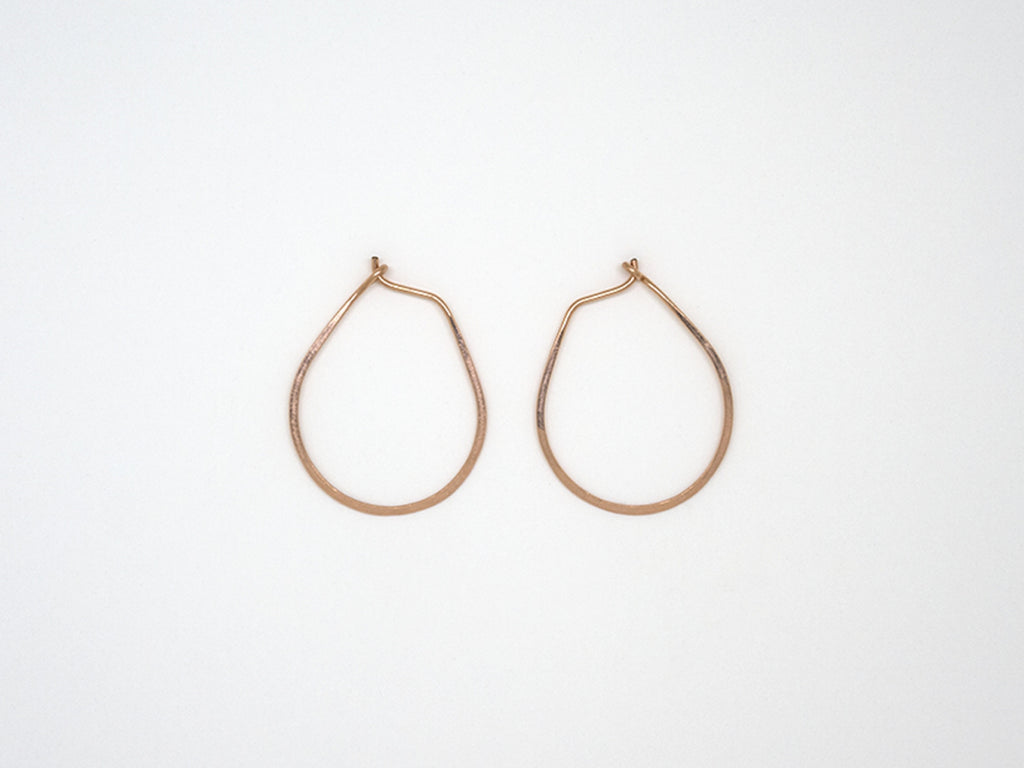 Small Rose Gold Teardrop Earrings - E1687