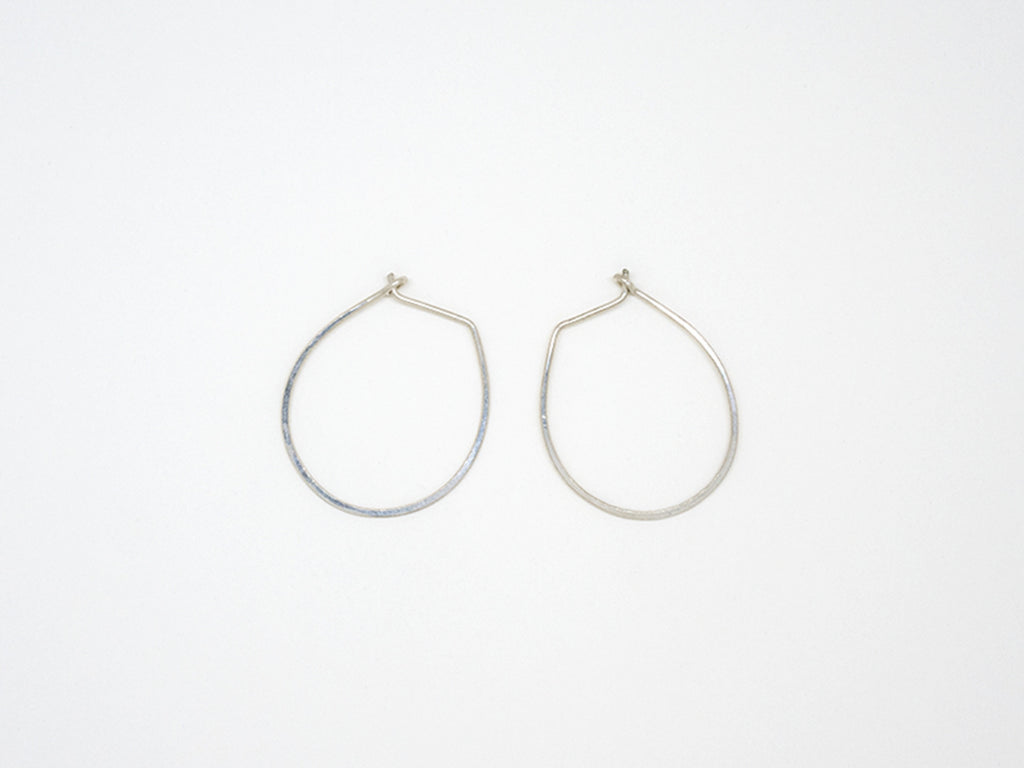 Small Sterling Silver Teardrop Earrings - E1687