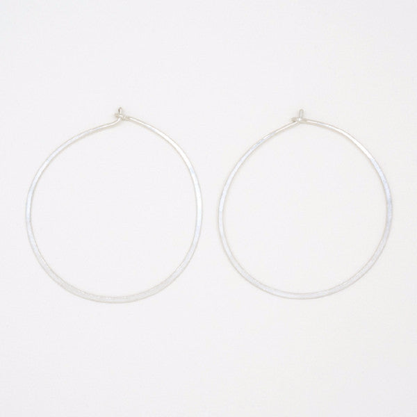 Sterling Silver Round Hoops - E1688