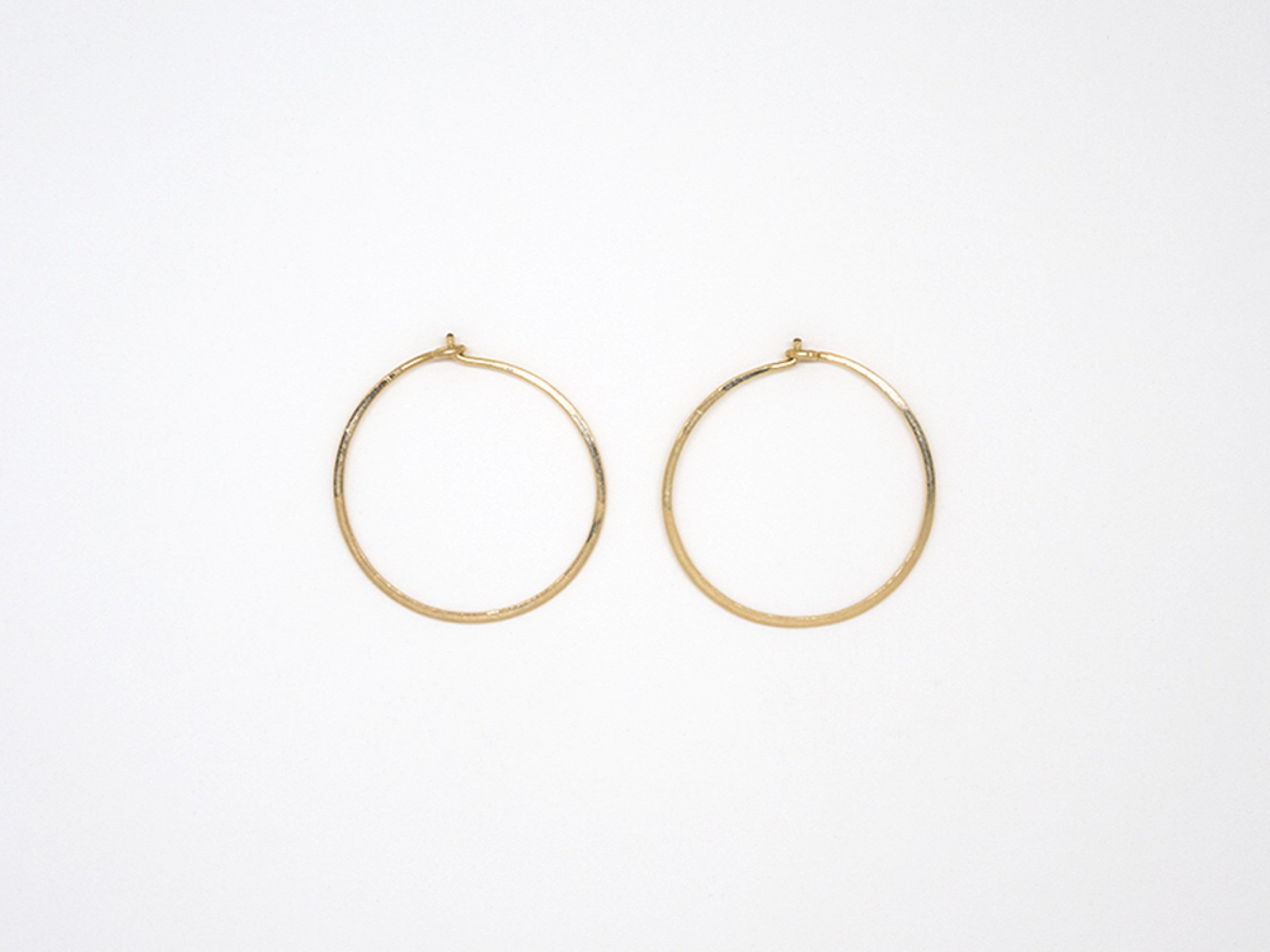 Small Gold Filled Round Hoops - E1689