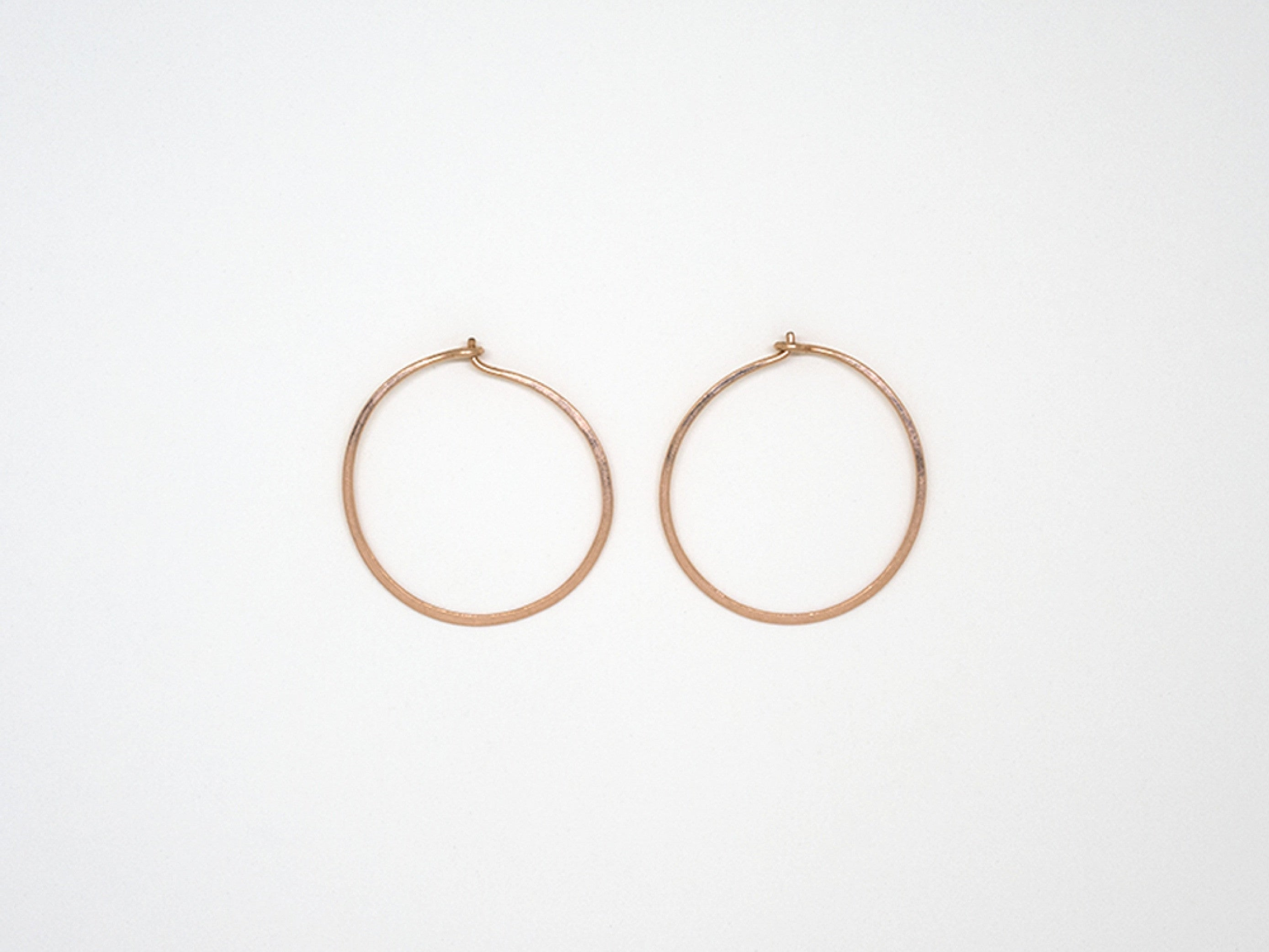 Small Rose Gold Round Hoops - E1689