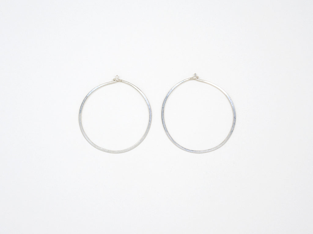 Small Sterling Silver Round Hoops - E1689