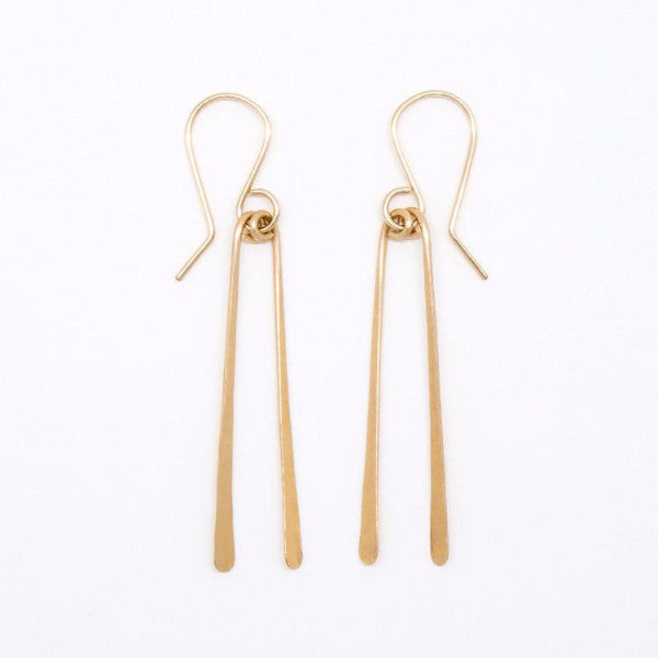 Gold Filled Chopstick Earrings - E1691