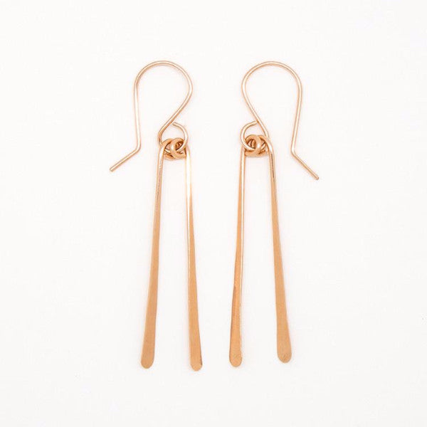 Rose Gold Chopstick Earrings - E1691