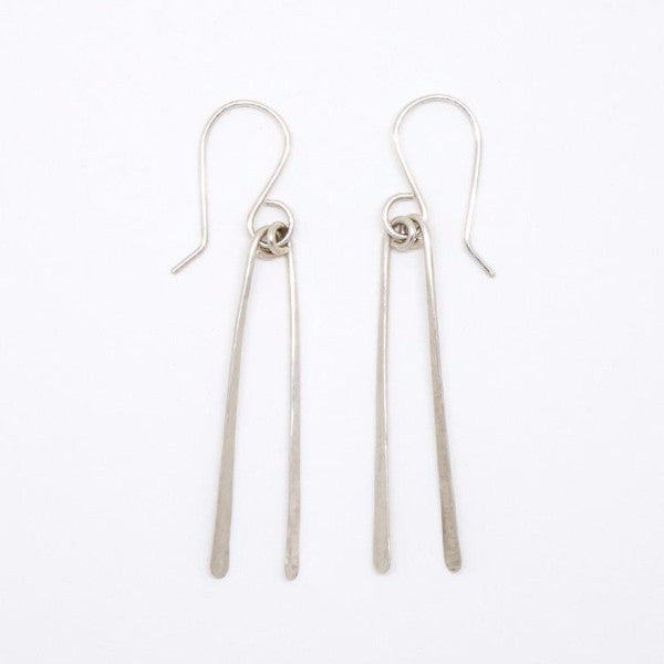 Sterling Silver Chopstick Earrings - E1691