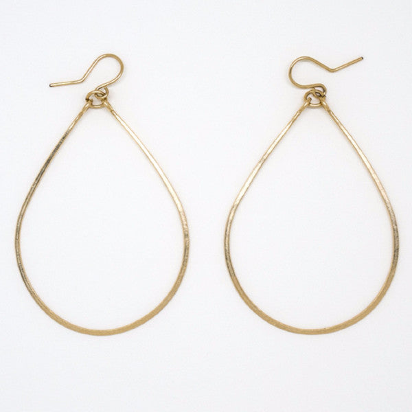 Gold Filled Big Teardrop Earrings - E1776
