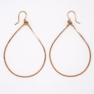 Rose Gold Big Teardrop Earrings - E1776