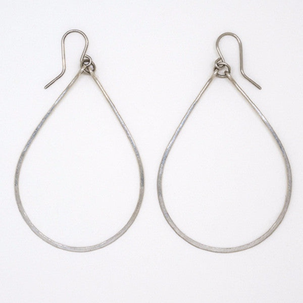 Sterling Silver Big Teardrop Earrings - E1776