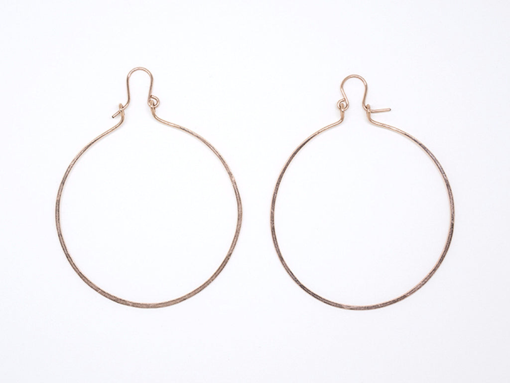 Gold Filled Large Round Hoop Earrings - E1947
