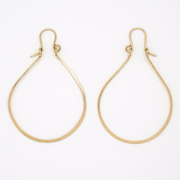Gold Filled Teardrop With Hook Earrings - E1949