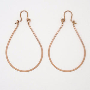 Rose Gold Teardrop With Hook Earrings - E1949