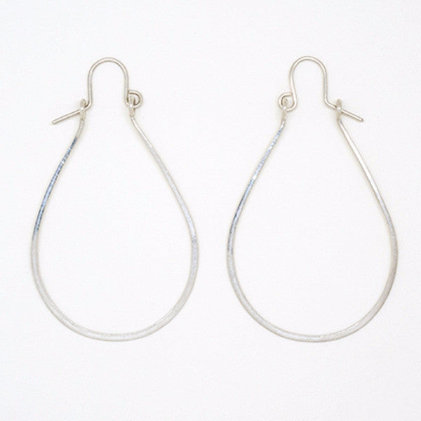 Sterling Silver Teardrop Earrings With Hook Earrings - E1949