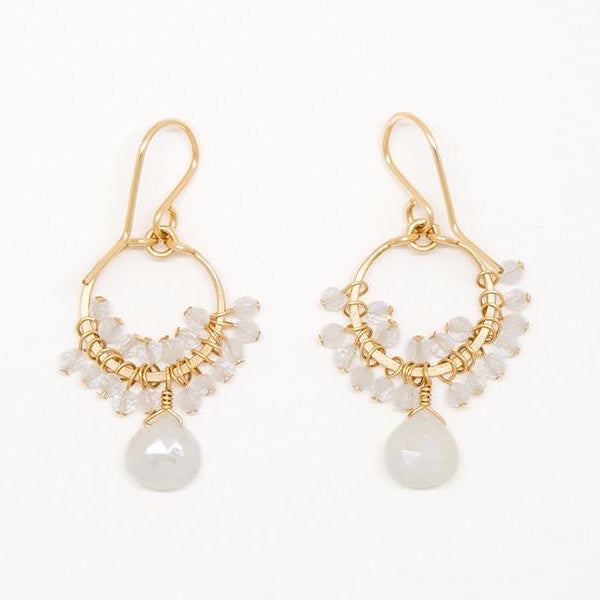 White Sapphire Teardrop Earrings - E2019