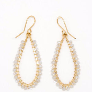 White and Clear Stone Earrings - E2026