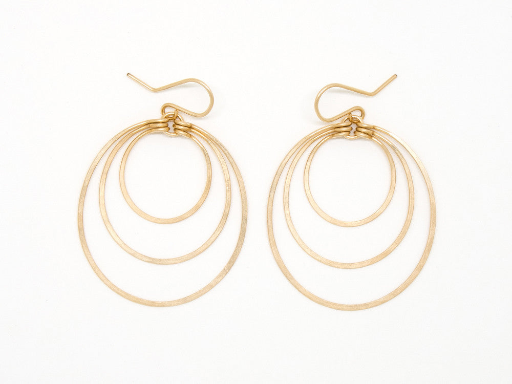 Concentric Gold Earrings - E2027