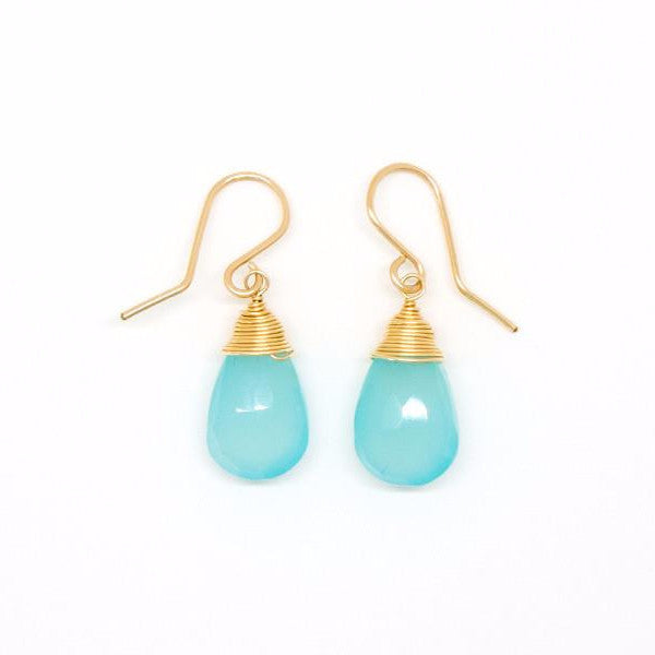 Chalcedony Drop Earrings - E2035