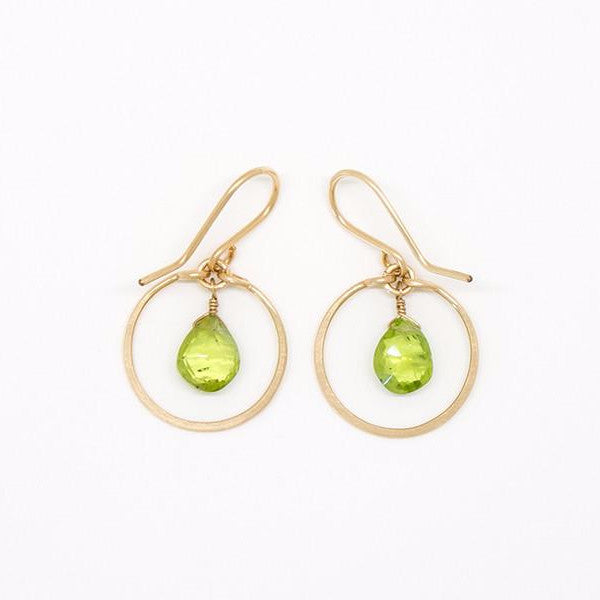 Baby Peridot Dangle Earrings - E2036